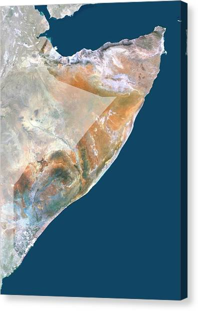 Somalia Canvas Print by Planetobserver/science Photo Library