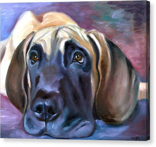 Great Danes Canvas Print - Soulful - Great Dane by Lyn Cook
