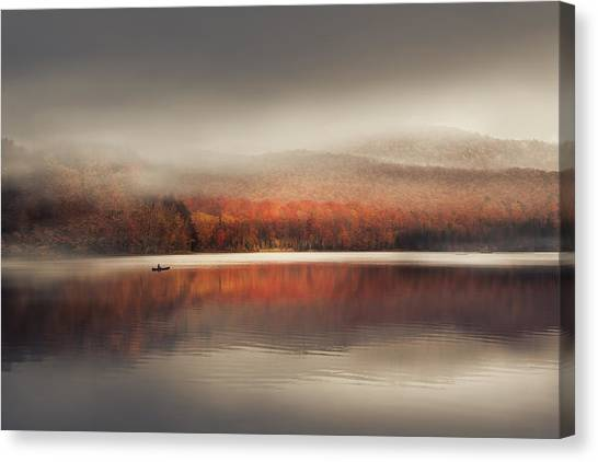 Vermont Canvas Print - Sound Of Silence by Magda  Bognar