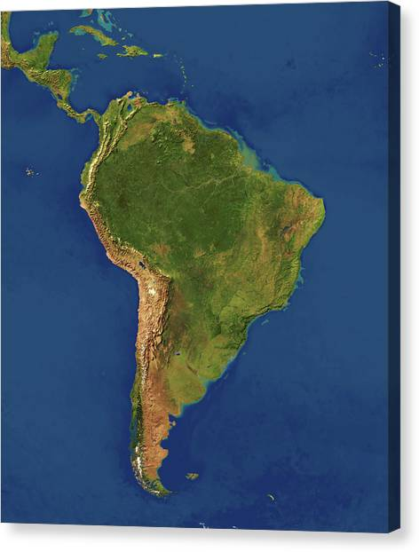 Amazon River Canvas Print - South America by Planetary Visions Ltd/science Photo Library