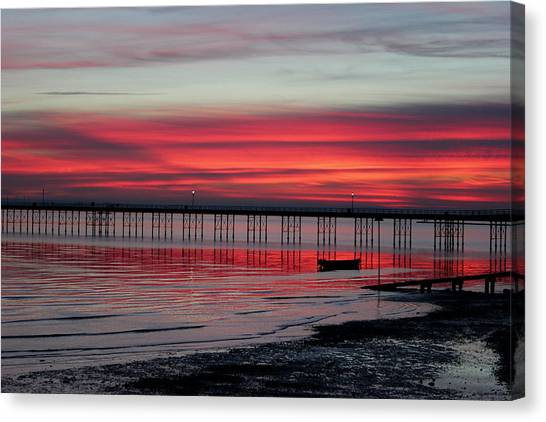Southend Pier Sunset Canvas Print