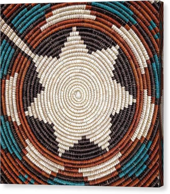 Basket Canvas Print - Southwestern Basket Detail by Carol Leigh