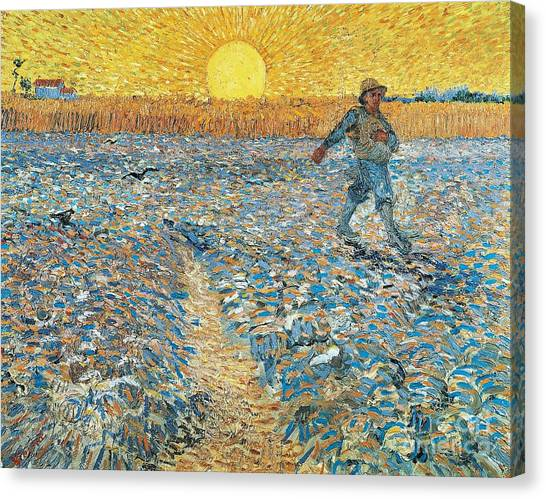 Hard Hat Canvas Print - Sower by Vincent van Gogh