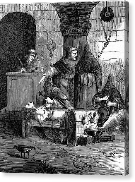 Accused Canvas Print - Spanish Inquisition by Collection Abecasis
