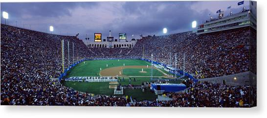 Los Angeles Dodgers Canvas Print - Spectators Watching Baseball Match, Los by Panoramic Images