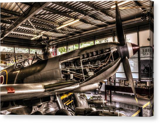 Hurricanes Canvas Print - Spitfire Engine by Ian Hufton