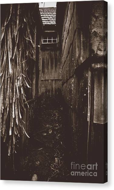 Haunted House Canvas Print - Spooky Early Settlers Rundown Country House by Jorgo Photography - Wall Art Gallery