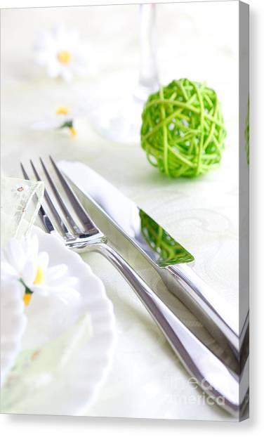 Mythja Canvas Print - Spring Table Setting by Mythja  Photography