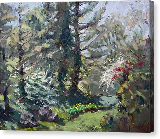 Blooming Tree Canvas Print - Spring 2014 by Ylli Haruni