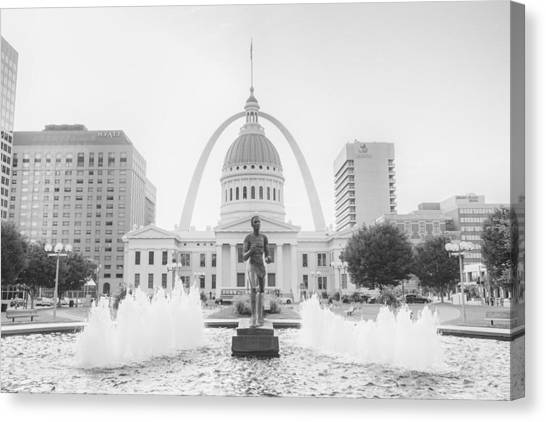 University Of Missouri Canvas Print - St. Louis Missouri Downtown  by David Haskett II