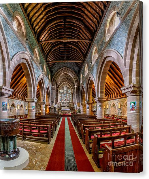 Beam Canvas Print - St Mary by Adrian Evans