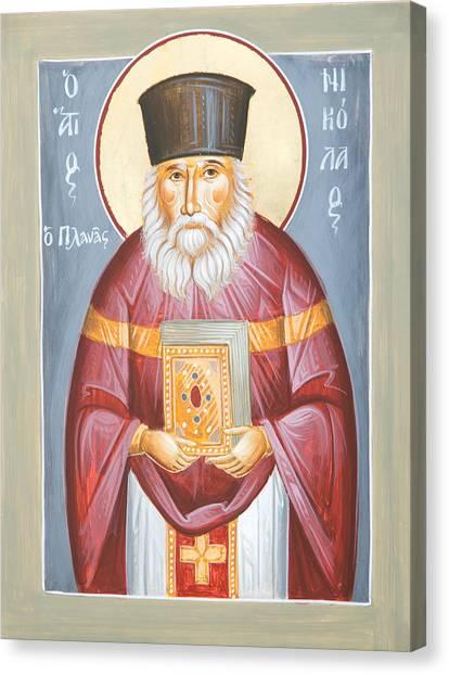 St Nicholas Planas Canvas Print by Julia Bridget Hayes