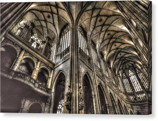 St Vitus Cathedral Prague Canvas Print