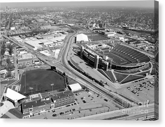 University Of Louisville Canvas Print - Stadiums University Of Louisville  by Bill Cobb