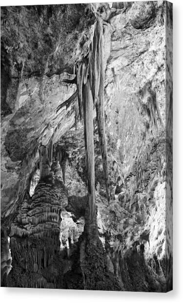 Carlsbad Caverns Canvas Print - Stalactites And Stalagmites by Melany Sarafis