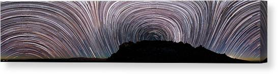 La Galaxy Canvas Print - Star Trails Over La Silla Observatory by Babak Tafreshi
