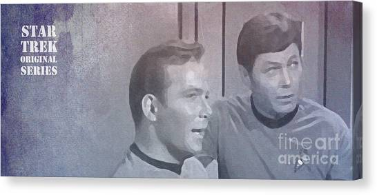 Uhura Canvas Print - Star Trek Kirk And Mccoy by Pablo Franchi