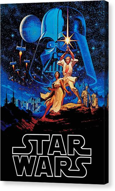 Jedi Canvas Print - Star Wars by Farhad Tamim