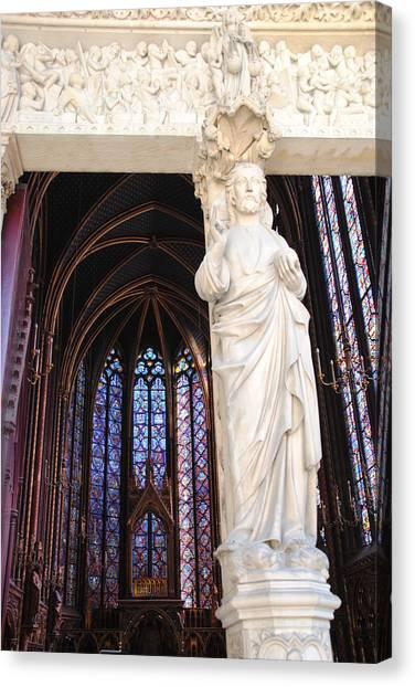 Ste.-chapelle Canvas Print by Jacqueline M Lewis