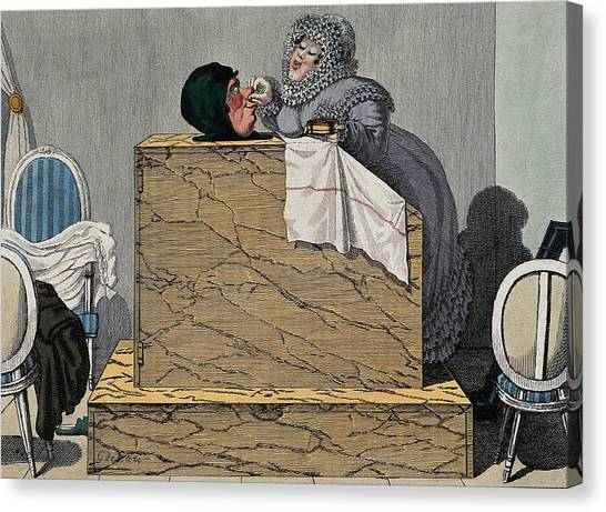 Sweating Canvas Print - Steam Bath, 19th Century by Wellcome Images