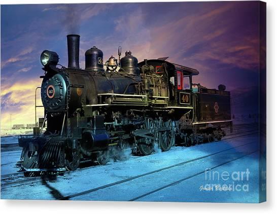 Steam Engine Nevada Northern Canvas Print
