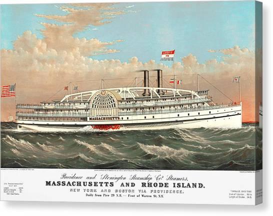 Steamship Massachusetts Canvas Print