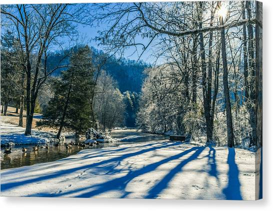 Steele Creek Winter Canvas Print