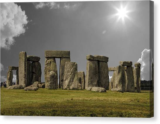 World Heritage Canvas Print - Stonehenge by Martin Newman