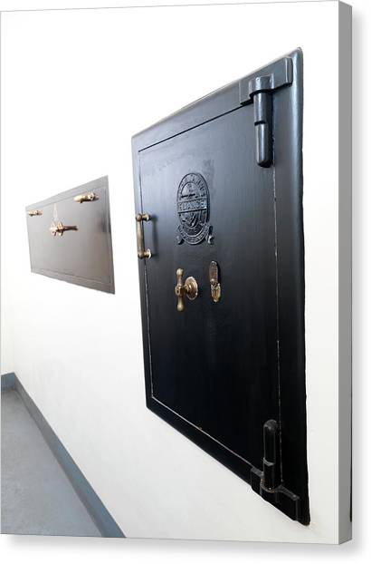 Vault Canvas Print - Storage Safes by Andrew Brookes, National Physical Laboratory/science Photo Library
