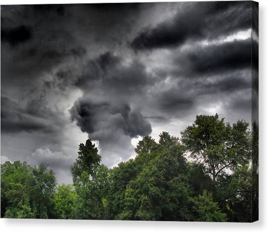 Gaston County Canvas Print - Storm Chasers  by Tammy Cantrell