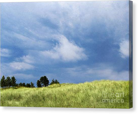 Storm Over Grassy Dune Canvas Print