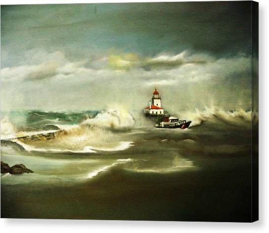 Stormy Canvas Print by Pamela Powers