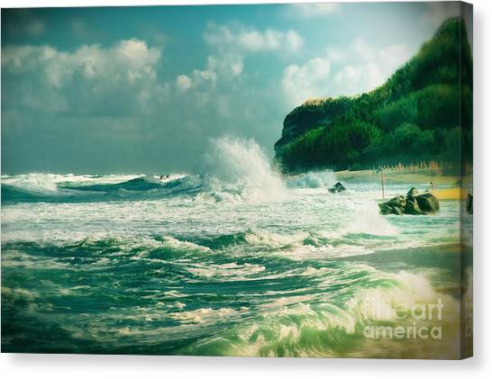 Stormy Sea Canvas Print