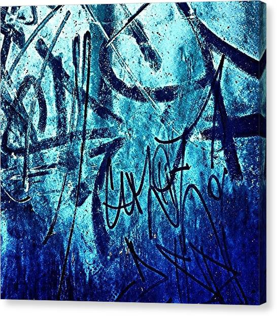 Graffiti Walls Canvas Print - Graffiti by Jason Michael Roust