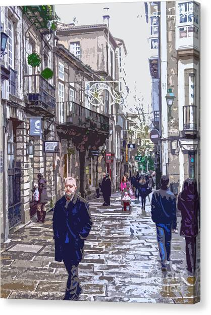 Streets And People Canvas Print