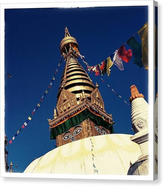 Geometry Canvas Print - Stupa Swayambhunath by Raimond Klavins