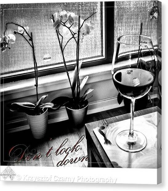 Red Wine Canvas Print - #such A #lonely #day #still #life by Krzysztof Czarny