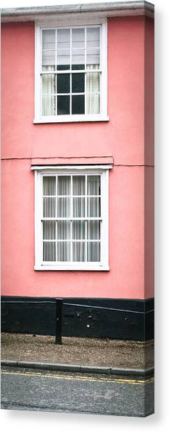 Window Canvas Print - Suffolk Pink by Tom Gowanlock