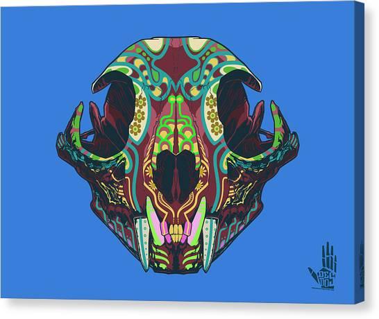 Folk Art Canvas Print - Sugar Lynx  by Nelson Dedos Garcia