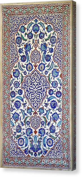 Sultan Selim II Tomb 16th Century Hand Painted Wall Tiles Canvas Print