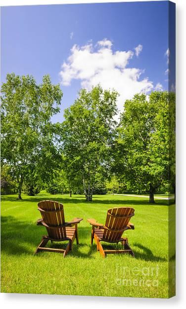 Adirondack Chair Canvas Print - Summer Relaxing by Elena Elisseeva