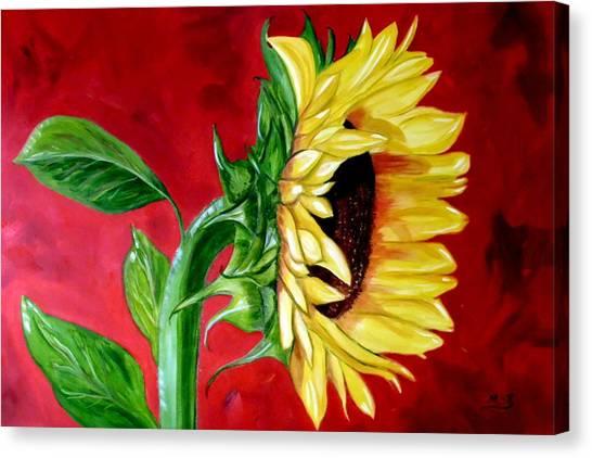 Sunflower Sunshine Canvas Print by Maria Soto Robbins