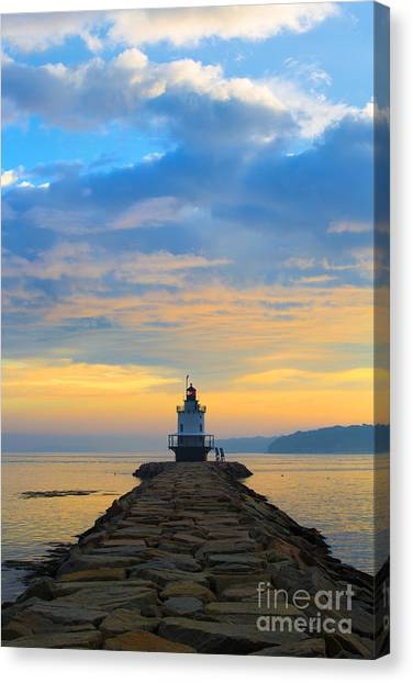 Sunrise At Spring Point Lighthouse Canvas Print
