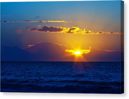 Sunrise At The Beach II Canvas Print