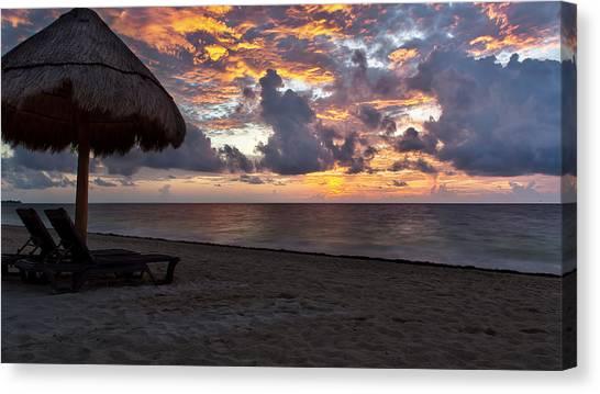Sunrise In Cancun Mexico Canvas Print