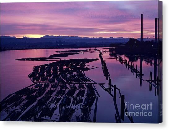 Sunrise Lumber Mill Canvas Print