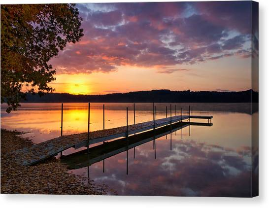 Sunrise On Keoka Lake Canvas Print