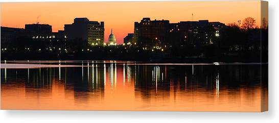 Sunrise Over The Capitol-2 Canvas Print