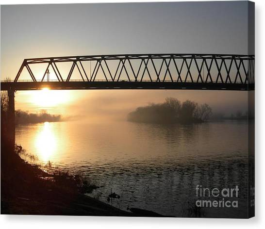 Sunrise Over The Ohio Canvas Print