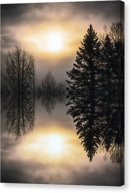 Sunrise-sundown Canvas Print